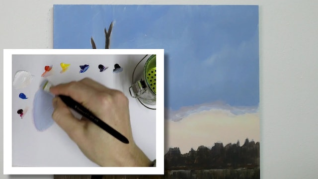 How To Paint a Winter Tree Part 2