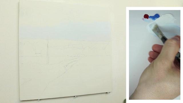 How To Paint a Simple Landscape Part 1