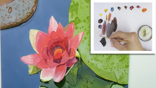 How To Paint a Lily Flower Part 5