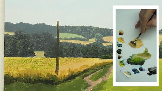 How To Paint a Simple Landscape Part 3