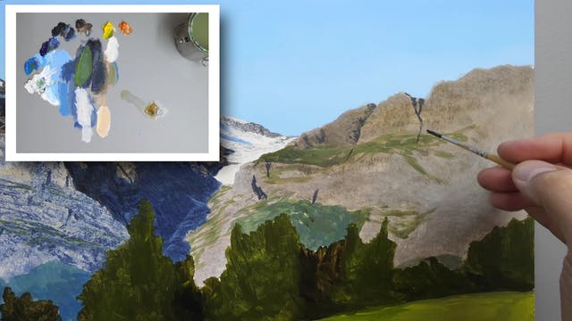 How To Paint a Mountain Part 5