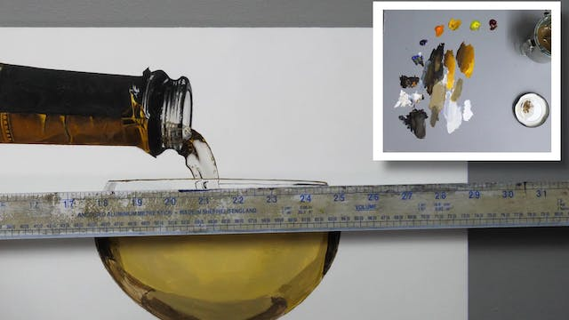 How to Paint a Champagne Glass Part 4