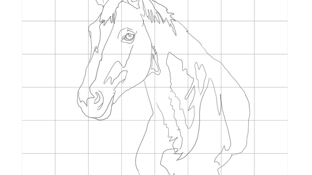 How to paint a Horse Sketching Diagram.jpg