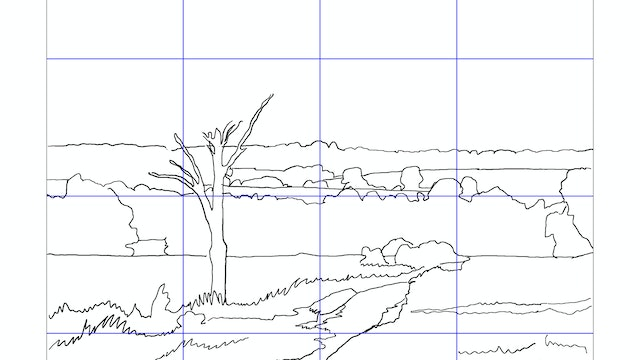 How to Paint a Simple Landscape Sketching Diagram.jpg