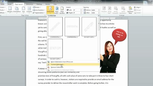 Formatting Page Layout