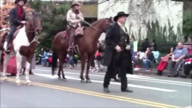 Riding Horses in a Parade (Special Event)