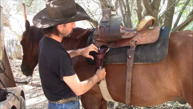 How to saddle your horse with a western saddle