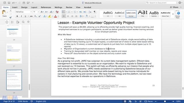 Finding Volunteer Salesforce Opportunities
