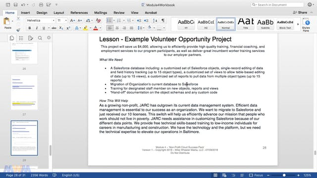 Finding Volunteer Salesforce Opportun...
