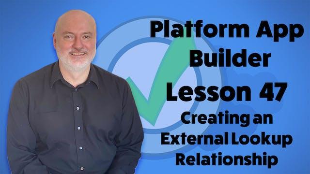 Lesson 47 - Creating an External Look...