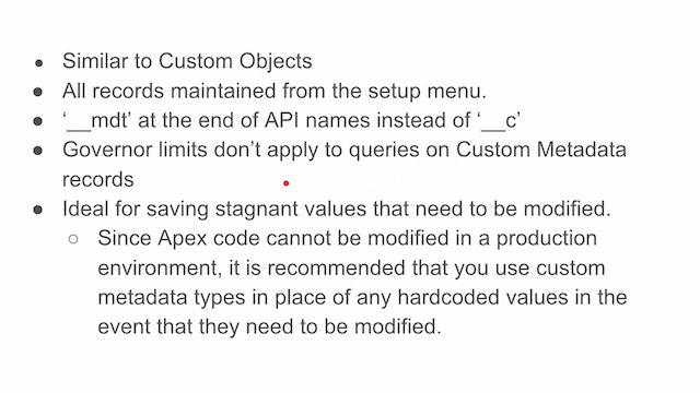 Lesson 36 - Intro to Custom Metadata Types