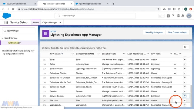 Customizing the Service Console via App Settings