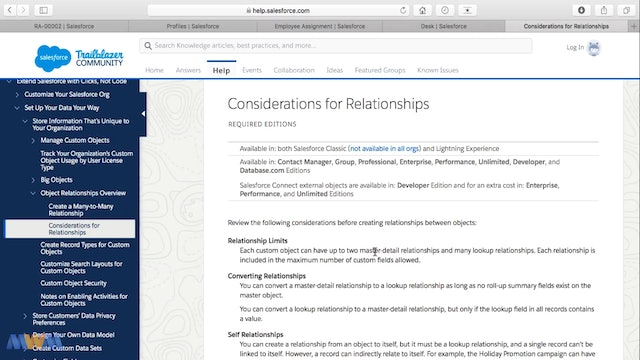 Considerations for Relationships