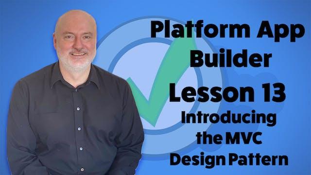 Lesson 13 - Introducing the MVC Desig...