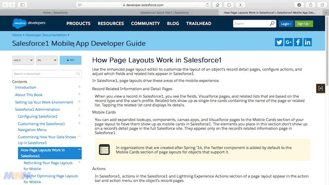 Sales Process Design Considerations of Salesforce Mobile