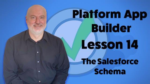 Lesson 14 - The Salesforce Schema