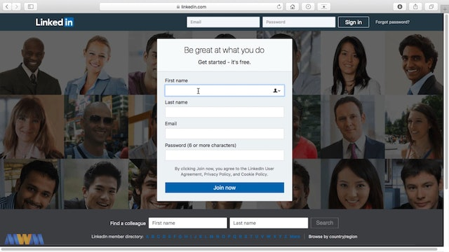 Creating a LinkedIn Account