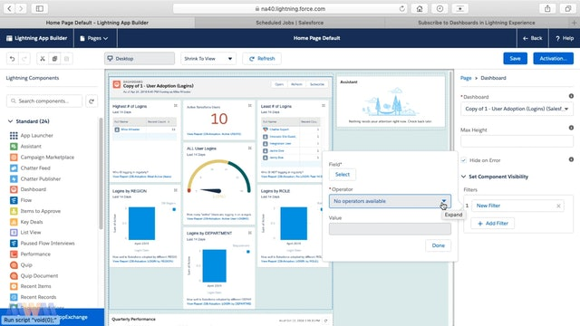 Adding a Dashboard to the Home Tab