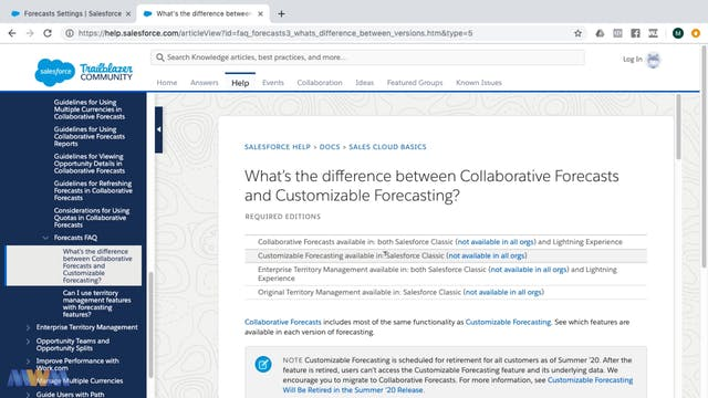Customizable vs. Collaborative Forecasts