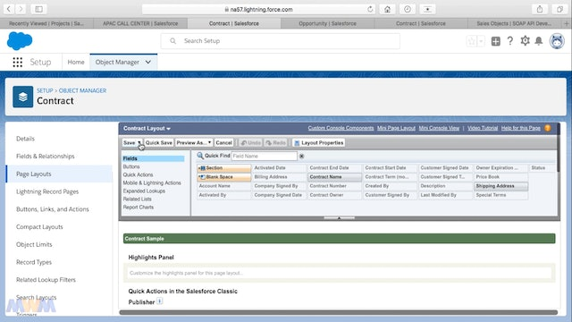 Contract Management App User Interface