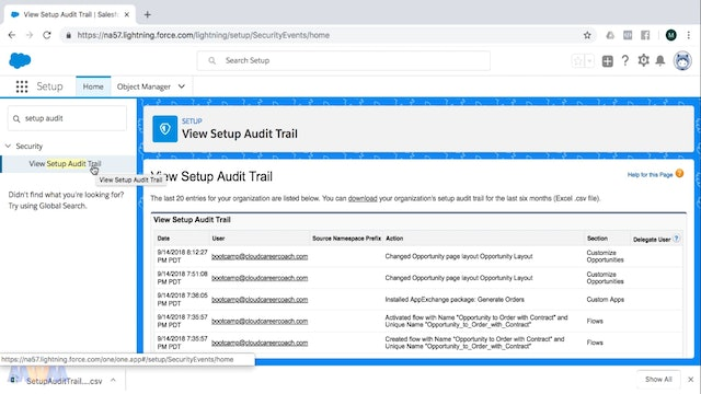 Introducing the Setup Audit Trail