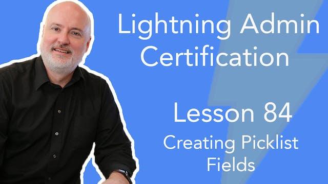 Lesson 84 - Creating Picklist Fields