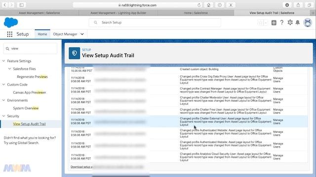 View Setup Audit Trail