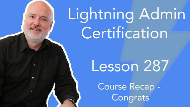 Lesson 287 - Course Recap - Congratul...