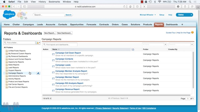 Common Types of Reports in Salesforce