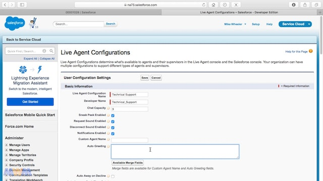 Creating Live Agent Configurations