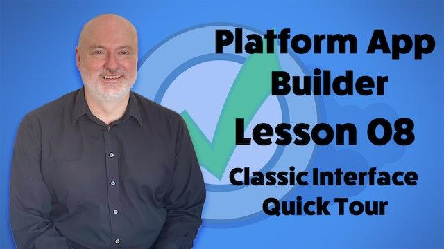 Lesson 08 - Salesforce Classic Interface Quick Tour