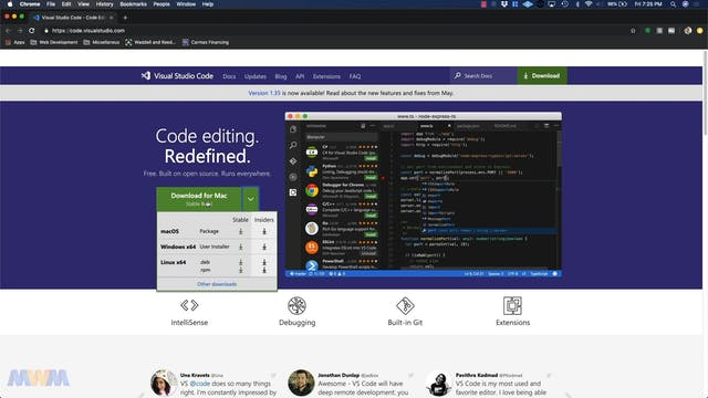 Installing Visual Studio Code