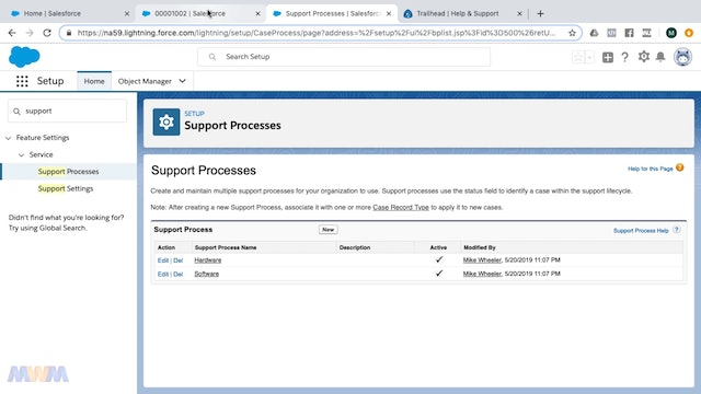 Creating Support Processes