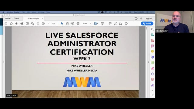 Live Salesforce Administrator Week 2 Replay - January 14, 2020