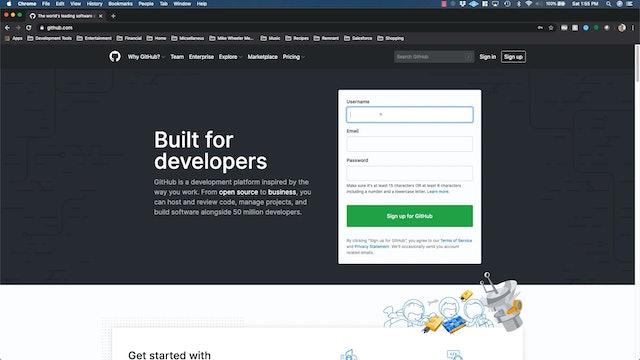 Lesson 35 - Create a GitHub Account