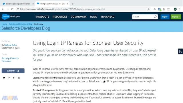 Trusted IP Ranges vs. Company Login IP Range