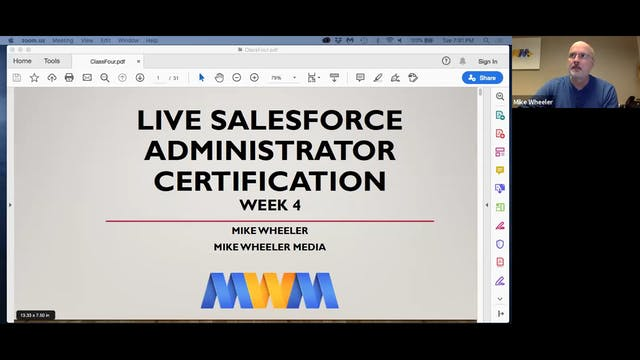 Live Salesforce Administrator Week 4 Replay - January 28, 2020