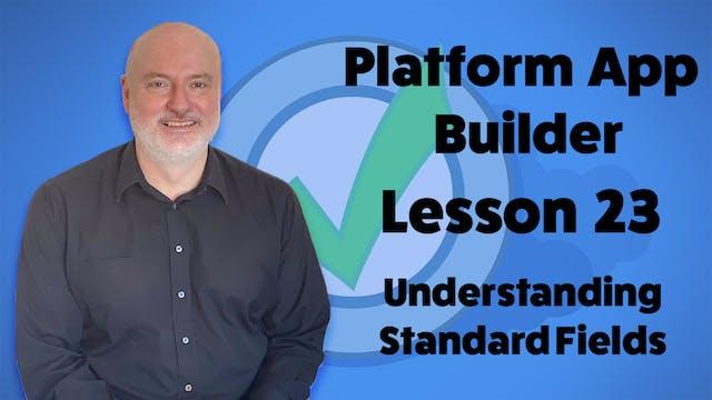 Lesson 23 - Understanding Standard Fi...