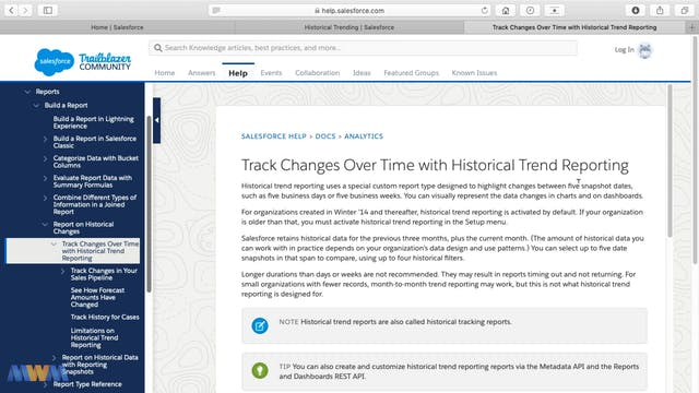 Historical Changes Reporting - Histor...