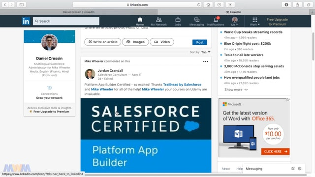 Finding and Applying to Salesforce Jobs on LinkedIn