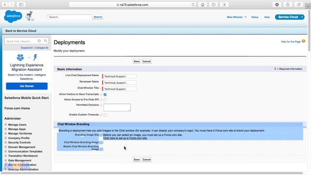 Creating Live Agent Deployments