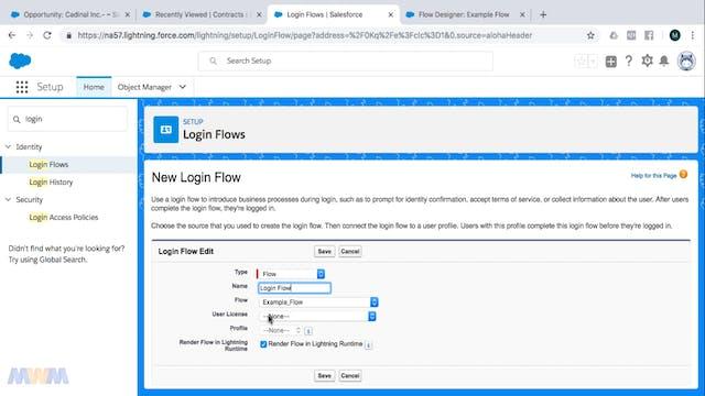 Creating a Login Flow