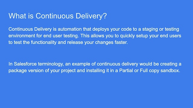 Lesson 39 - Introduction to Continuous Integration and Delivery