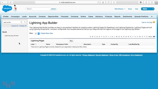 Lightning App Builder Tool Introduction