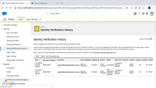 Identity Verification and History