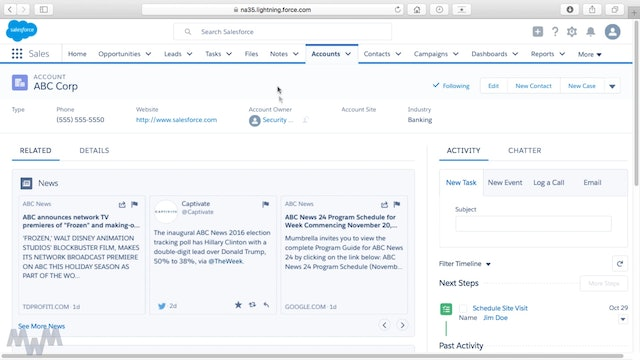 Account Management in Salesforce Lightning Experience