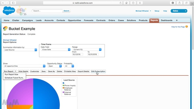 Salesforce Report Scheduling and Automation