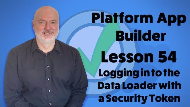 Lesson 54 - Logging in to the Data Lo...
