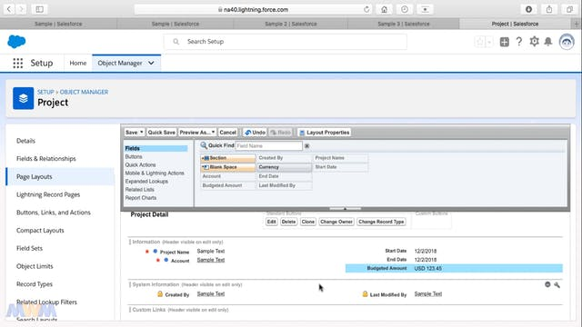 Customizing Page Layouts