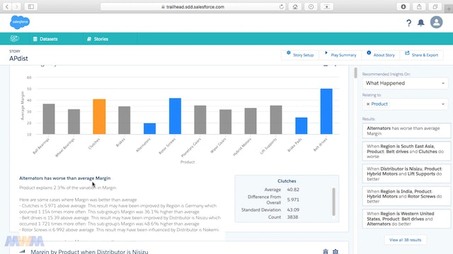 Editing a Story and Adding Insights in Salesforce Einstein Discovery